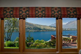 View from the Silver Fern Suite looking across Lake Wakatipu with Cecil Peak in the background - click for more pictures and details.